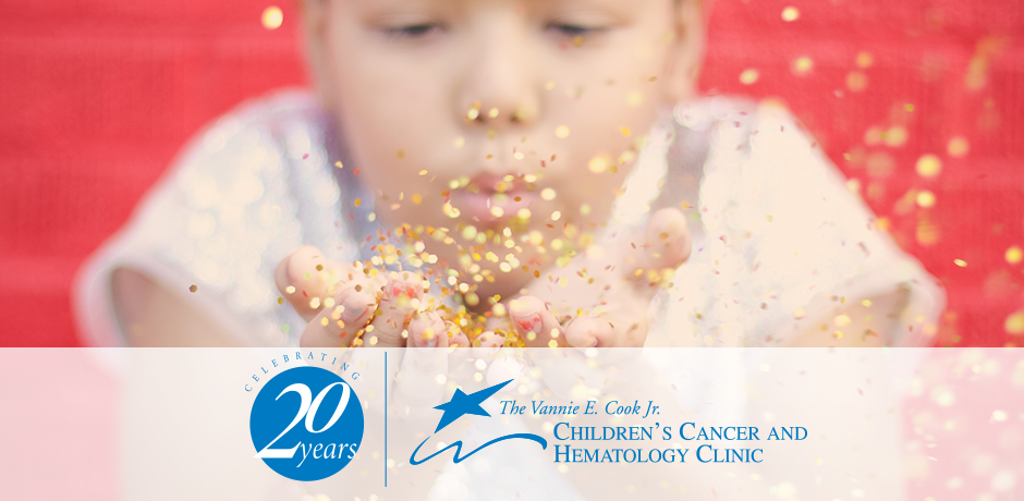 Celebrating 20 Years The Vannie E. Cook Jr. Children's Cancer and Hematology Clinic